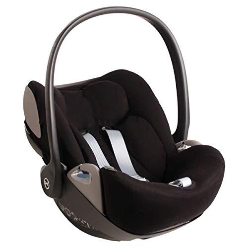 Cybex Cloud Z Bezug für Babyschale Schwarz Einfarbig Perfekte Passform Weiche...