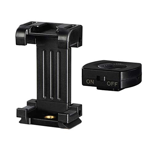 Hama Smartphonehalterung Pro II, 9,5 cm, mit Bluetooth-Fernauslöser BRS2, 4633,...
