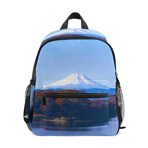 Kleine Schultasche Mount Fuji Japan Lake Scenery Rucksack für Mädchen Jungen...