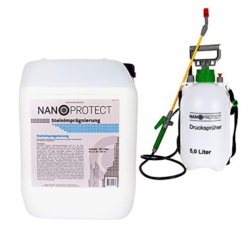 Nanoprotect Steinimprägnierung mit Drucksprüher | Profi Qualität | Vorbeugend...