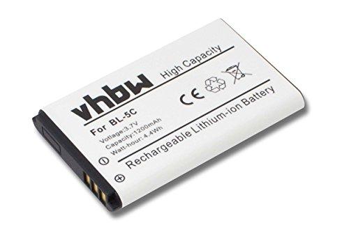 vhbw Akku kompatibel mit Fritz! Fon C6 Handy Smartphone Telefon Ersatz für A051...