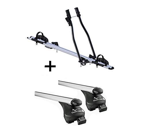 VDP Fahrradträger SAGITTAR + Relingträger Quick L kompatibel mit Infiniti QX30...