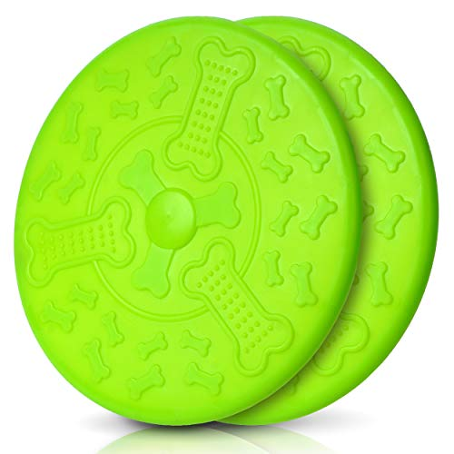 Honigpfote Hunde Frisbee in knalliger Farbe schwimmend aus flexiblem...