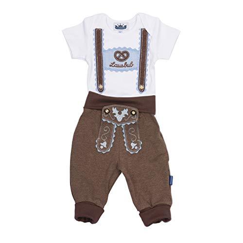 Trachten Set für Lausbuben in Größe 86 bestehend aus Baby Body mit kurzem Arm...