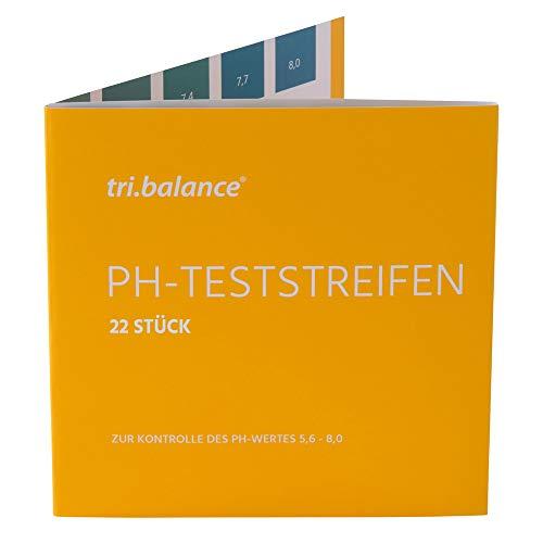 tri.balance pH-Teststreifen 22 Stück – 1er Pack I Messbereich 5,6-8,0 pH I...