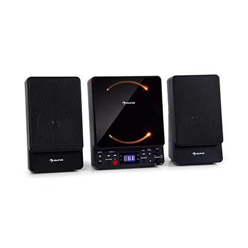 auna Microstar - Microsystem, Vertikalanlage, CD-Player, Bluetooth,...