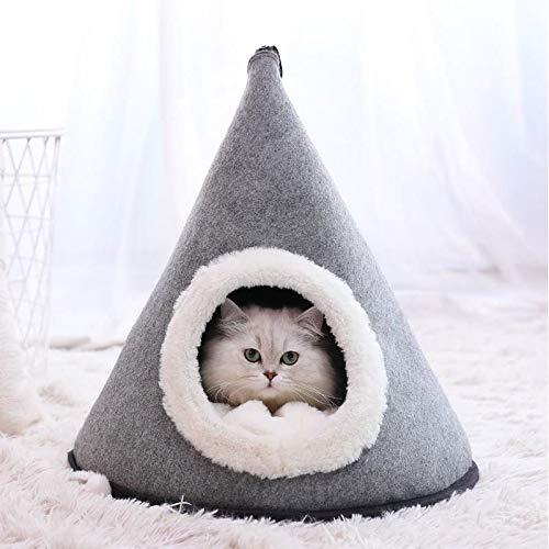 MISLD Dreieck-Haustier-Zelt-Multifunktionshaustier-Häuser halten warmes...