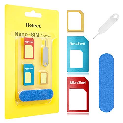 Helect SIM Karten Adapter für Smartphones, 5 in 1 Nano Micro Standard Adapter...