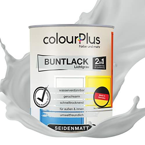 colourPlus 2in1 Buntlack (750ml, RAL 7035 Lichtgrau) seidenmatter Acryllack -...