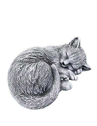 Steinfigur kleine Katze Tinka eingerollt (8x17x14 cm), Frost- und wetterfest bis...