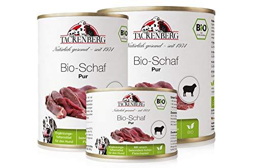 Tackenberg Hundefutter, Nassfutter für Hunde, 100% Bio Schaf pur, getreidefrei,...