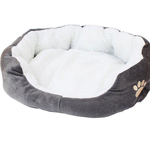 Westeng 1 Stück Ultra-weiche Baumwolle Welpen Nest Katzenbett, kleine...