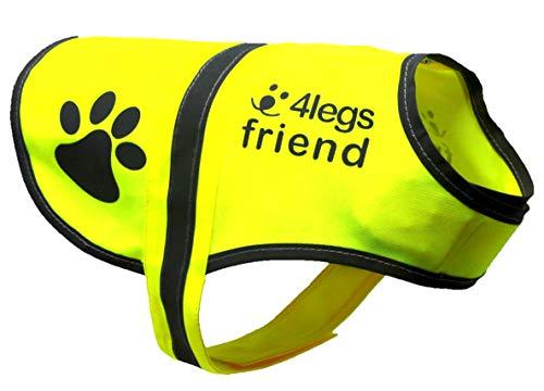 4LegsFriend Hunde Sicherheitsweste mit Leinenbefestigungsring 5 Größen - Hohe...