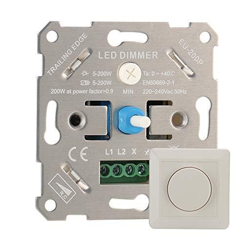 Gobesty Dimm-Schalter, Drehdimmer LED-Dimmer-Schalter Unterputz LED-Drehdimmer...