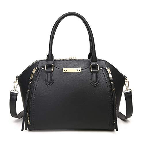 Aitbags Geldbörsen und Handtaschen für Damen, mit Schultergurt, groß, Schwarz...