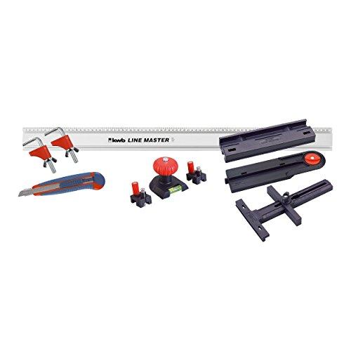 kwb LINE MASTER Präzisionslineal – 800-mm Universal-Führungsschiene für...