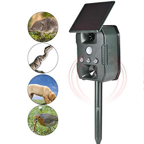 MODGS Ultraschall-Repeller, Solarbetriebenes Wasserdichtes Tierschutzmittel Für...