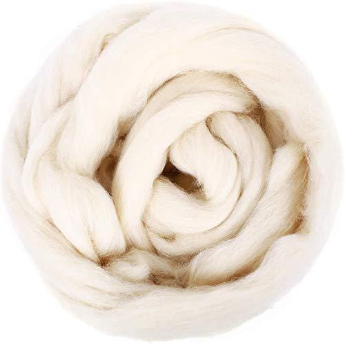 SOLEDI Roving Wolle hochwertiger Vorgarn Faser Spindel Filz Handarbeiten...