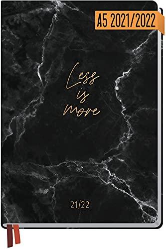 Häfft-Timer 2021/2022 A5 [Less is more] Hardcover Schüler-Kalender,...