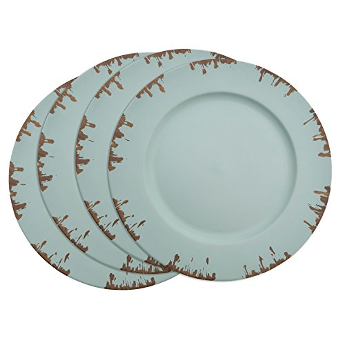 Saunders-Roe Lifestyle sousplat Kollektion Distressed Design Platzteller, blau,...