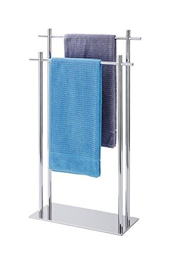 Wenko Handtuchständer mit 2 Stangen, Kyoto Handtuchhalter für Bad oder Küche,...