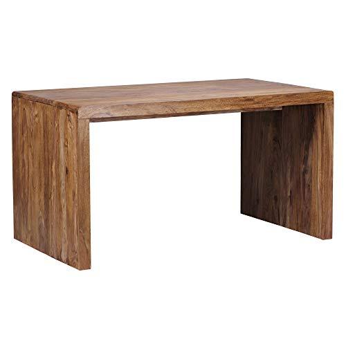WOHNLING Schreibtisch BOHA Massiv-Holz Sheesham Computertisch 160 cm breit...