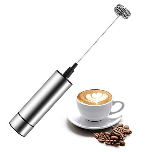 CLII Milchaufschäumer Batteriebetriebene Kaffee Frother Stabmixer,...