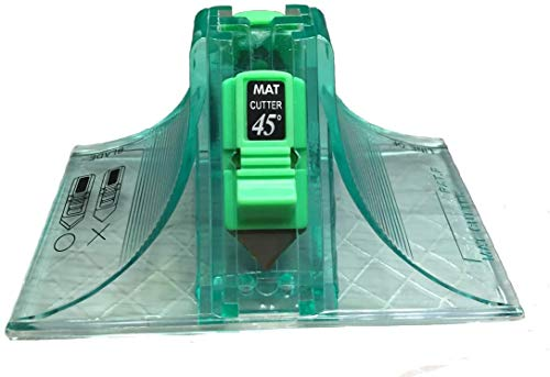 Cutter 45 & 90 Grad abgeschrägte Mattenschneider, mit 3 gratis Ersatzklingen...