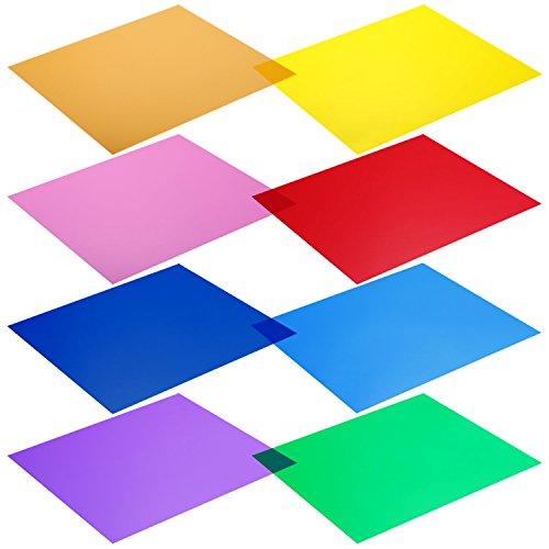 Neewer 30 x 30cm Transparente Farbkorrektur-Licht-Gel-Filter Set Packung: 8 Gel...