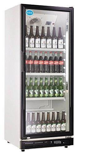 wDesigns Gastro Kühlschrank Flaschenkühlschrank Glastür 310 Liter...