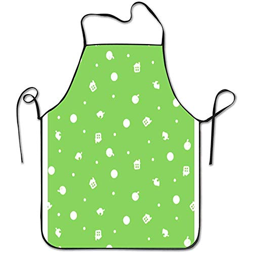 Not Applicable Aprons with Pockets Animal Crossing Coloured Background Bib...
