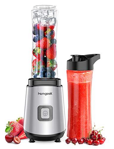Homgeek Mixer Smoothie Maker, Standmixer mit 2 x 600 ml BPA-freien...