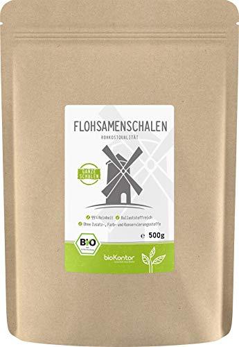 BIO Flohsamenschalen 99% Reinheit GANZ - 100% Bio - indische Flohsamen Schalen -...