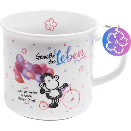 Sheepworld 46204 Tee-Tasse Genieße das Leben, Porzellan, 40 cl, Geschenk...