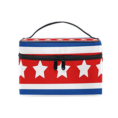 ISAOA Make-up-Organizer-Tasche mit amerikanischen Sternen und Streifen,...
