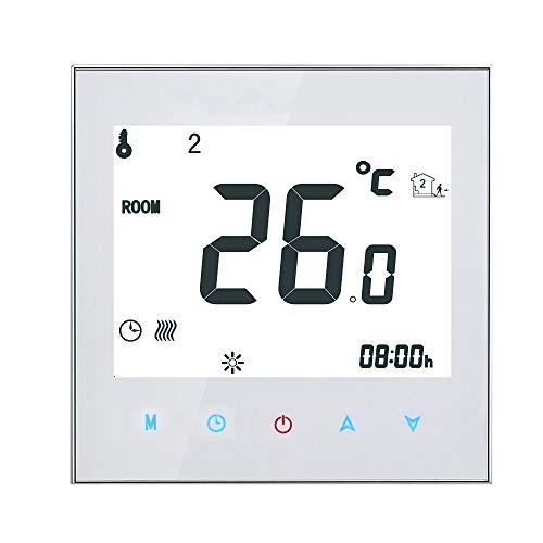Decdeal Raumthermostat Fußbodenheizung Elektrische Heizung Thermostat 16A...