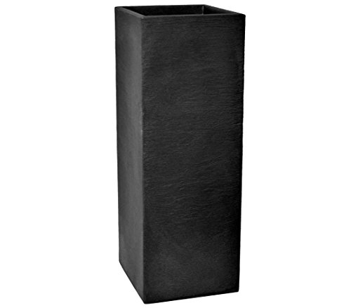 Dehner Säulentopf Palermo, Schieferoptik, ca. 80 x 30 x 30 cm, Kunststoff,...