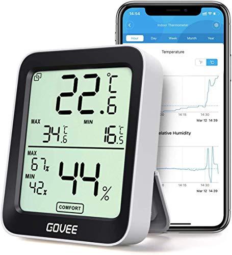 Govee Thermometer Hygrometer, Mini LCD Digital Thermometer Hygrometer Innen mit...