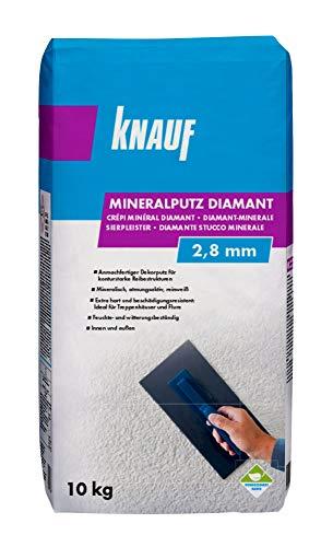 Knauf Mineralputz Diamant 2,8-mm Körnung – mineralischer Dekor-Putz, als...
