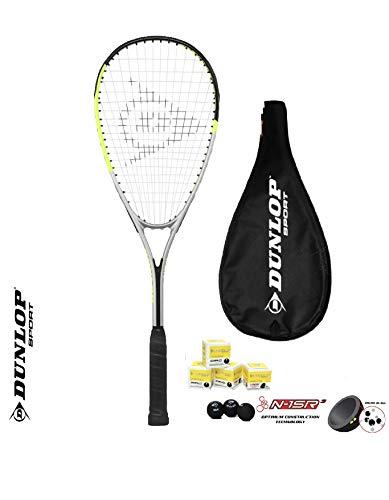 Dunlop Ti Series Squashschläger (Verschiedene Optionen) (1 x Squashschläger +...