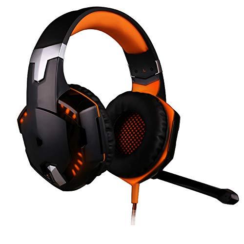 KOIUJ 50MM Gaming Headset, Gemütlich Rauschunterdrückung Kopfhörer mit...
