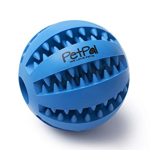 PetPäl Hundeball mit Zahnpflege-Funktion Noppen Hundespielzeug aus...