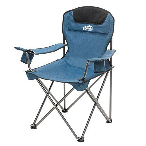 Qeedo Camping-Stuhl XL Johnny bis 150 kg, Klappstuhl mit Getränkehalter,...