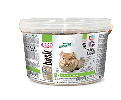 Lolo Basic Alleinfuttermittel Für Chinchillas 3 L, 2 Kg Eimer, Getreide,...