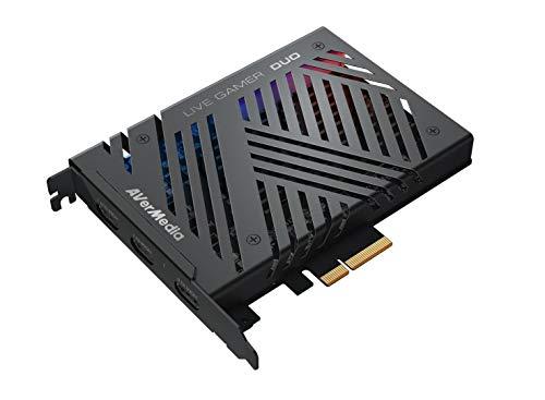 AverMedia Live-Gamer Duo, 4Kp60 HDR-Passthrough, PCI-E, extrem niedrige...