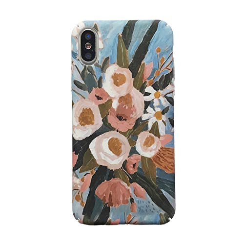 Xueli Retro Art Bunte Blumen Handyhülle für iPhone XR X XS Max 6 6S 7 8Plus...