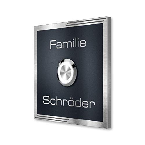 Metzler Design Edelstahl-Türklingel in Anthrazit - Pulverbeschichtet RAL 7016...