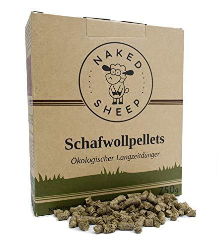 NAKED SHEEP Schafwollpellets (750 g) - Organischer Bio-Dünger für Gemüse,...