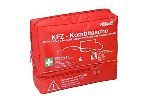 KALFF KFZ-Kombitasche TRIO Compact, inkl. Warnweste und Warndreieck, mit...