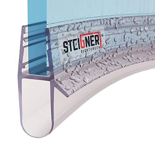STEIGNER Duschdichtung, 50cm, Glasstärke 5/6/ 7/8 mm, Vorgebogene PVC...